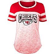 NFL Team Apparel Women's Kansas City Chiefs Space Dye Glitter Red T-Shirt