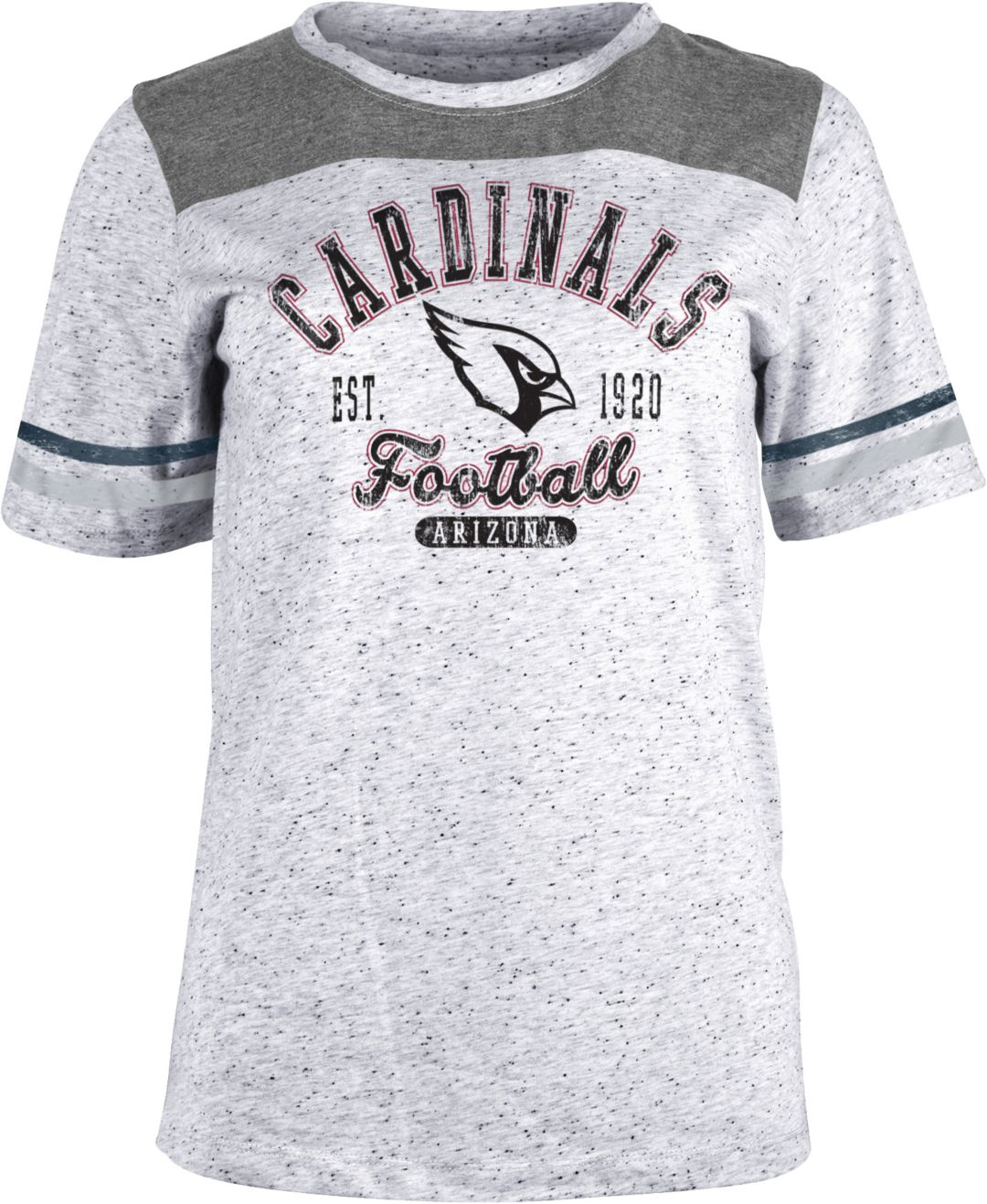 reputable site 1e68c 1bf85 NFL Team Apparel Women's Arizona Cardinals Peppercorn T-Shirt