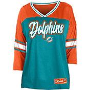NFL Team Apparel Women's Miami Dolphins Mesh Raglan Top