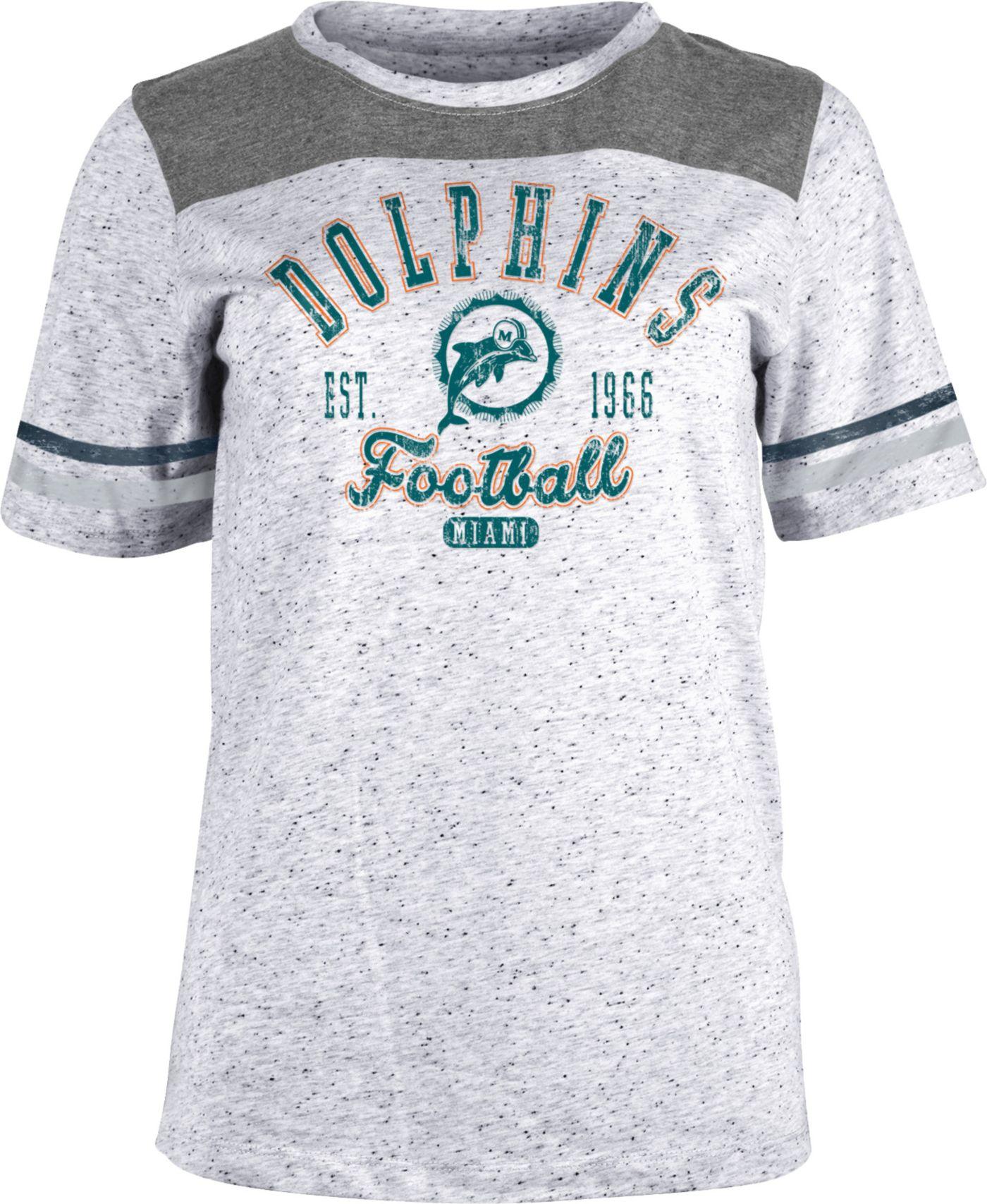 NFL Team Apparel Women's Miami Dolphins Peppercorn T-Shirt