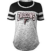 NFL Team Apparel Women's Atlanta Falcons Space Dye Glitter Black T-Shirt