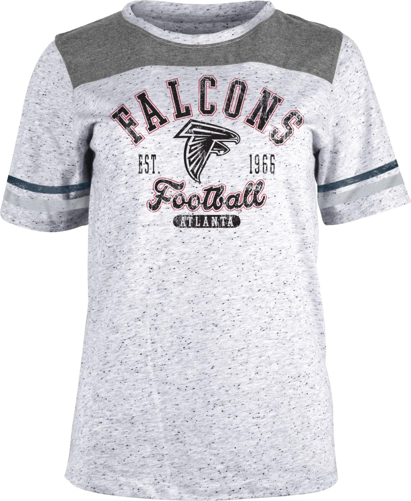 NFL Team Apparel Women's Atlanta Falcons Peppercorn T-Shirt