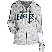 NFL Team Apparel Women's Philadelphia Eagles Space Dye Full-Zip Hoodie