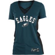 NFL Team Apparel Women's Philadelphia Eagles Mesh X Green T-Shirt