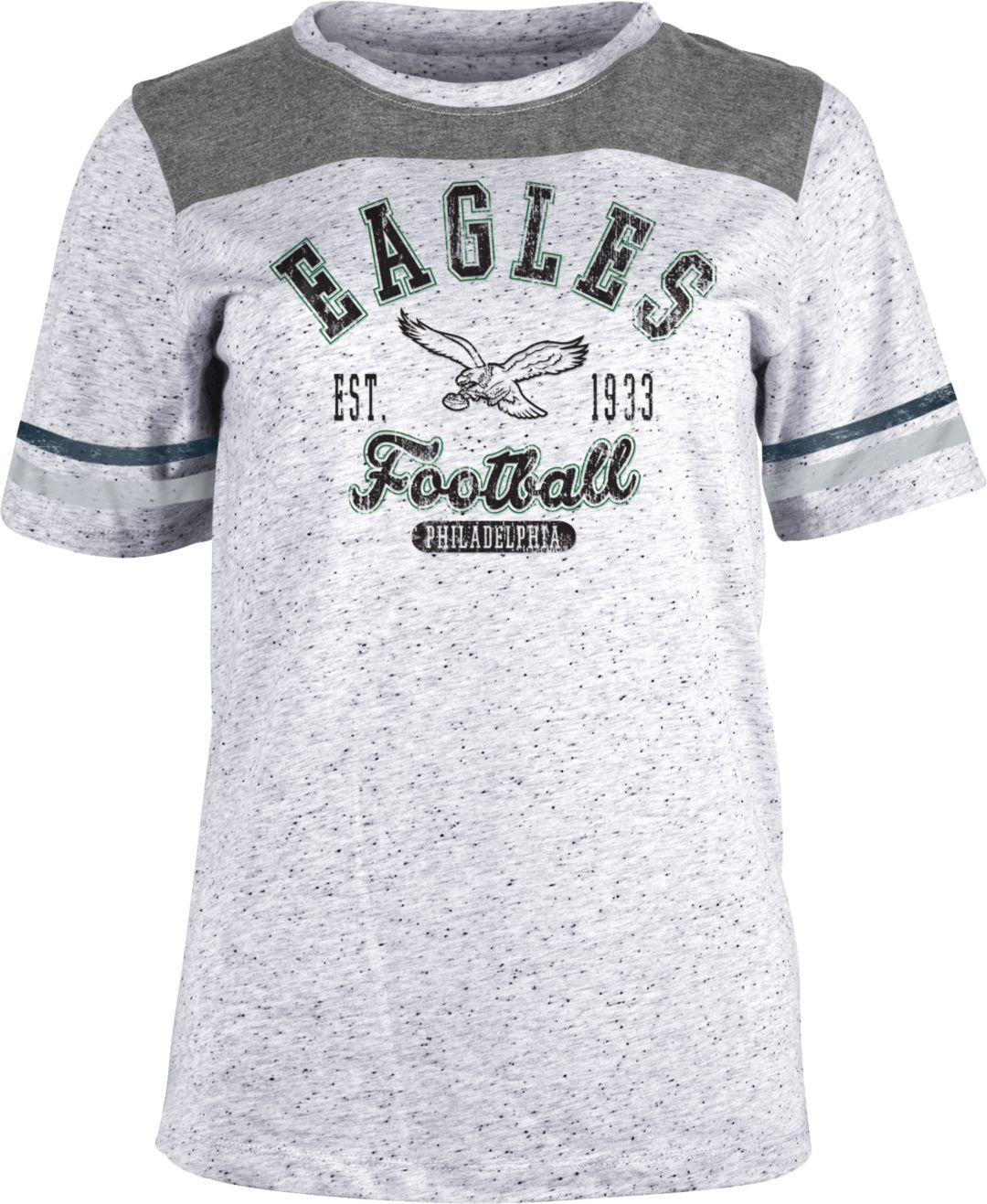 0b7014d6 NFL Team Apparel Women's Philadelphia Eagles Peppercorn T-Shirt