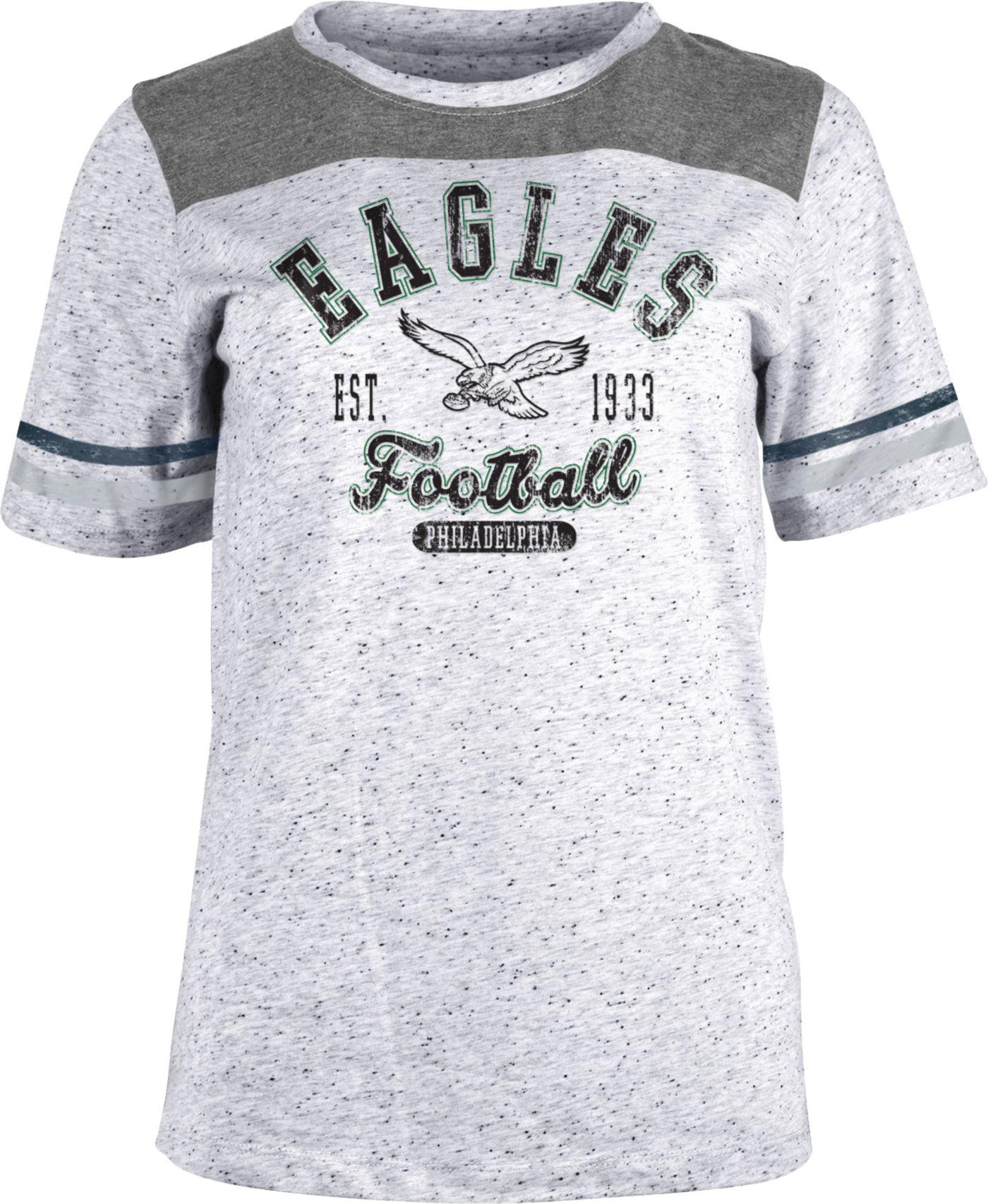 NFL Team Apparel Women's Philadelphia Eagles Peppercorn T-Shirt