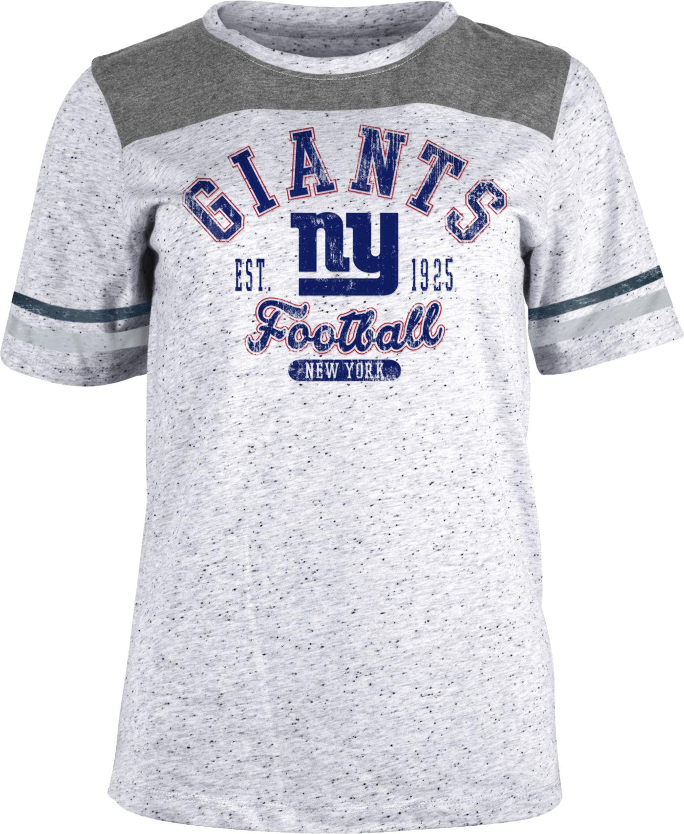 NFL Team Apparel Women's New York Giants Peppercorn T-Shirt