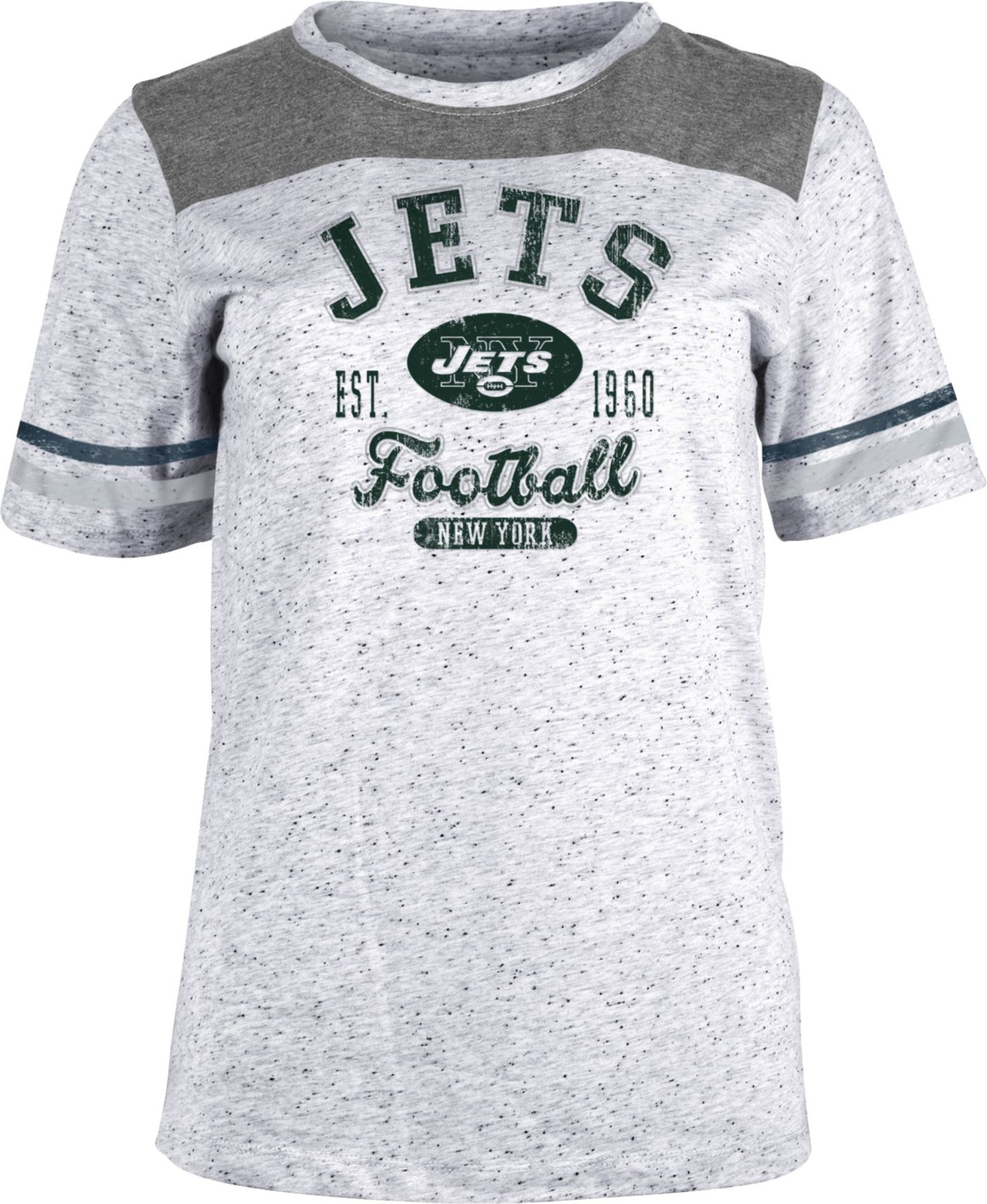 NFL Team Apparel Women's New York Jets Peppercorn T-Shirt
