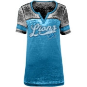finest selection 103cd f45d9 NFL Team Apparel Women's Detroit Lions Foil Burnout Blue T-Shirt