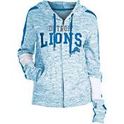 NFL Team Apparel Women's Detroit Lions Space Dye Full-Zip Hoodie