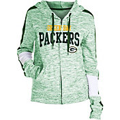NFL Team Apparel Women's Green Bay Packers Space Dye Full-Zip Hoodie