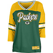 NFL Team Apparel Women's Green Bay Packers Mesh Raglan Top