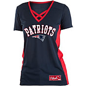 7bc2663b45af Product Image · NFL Team Apparel Women's New England Patriots Mesh X Navy T- Shirt