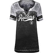 NFL Team Apparel Women's Oakland Raiders Foil Burnout Black T-Shirt