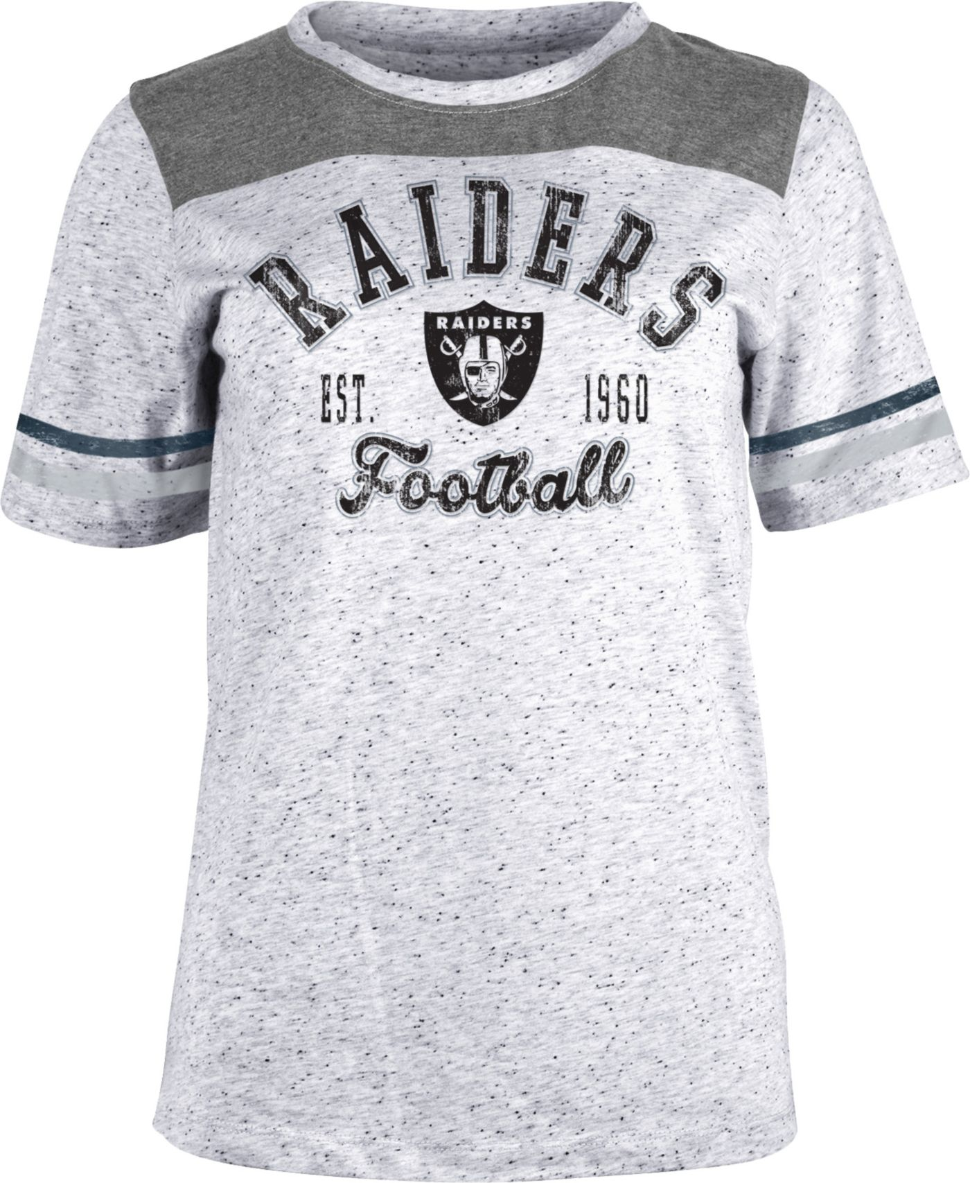 NFL Team Apparel Women's Las Vegas Raiders Peppercorn T-Shirt