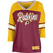 NFL Team Apparel Women's Washington Redskins Mesh Raglan Top