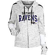 NFL Team Apparel Women's Baltimore Ravens Space Dye Full-Zip Hoodie