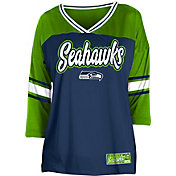 NFL Team Apparel Women's Seattle Seahawks Mesh Raglan Top