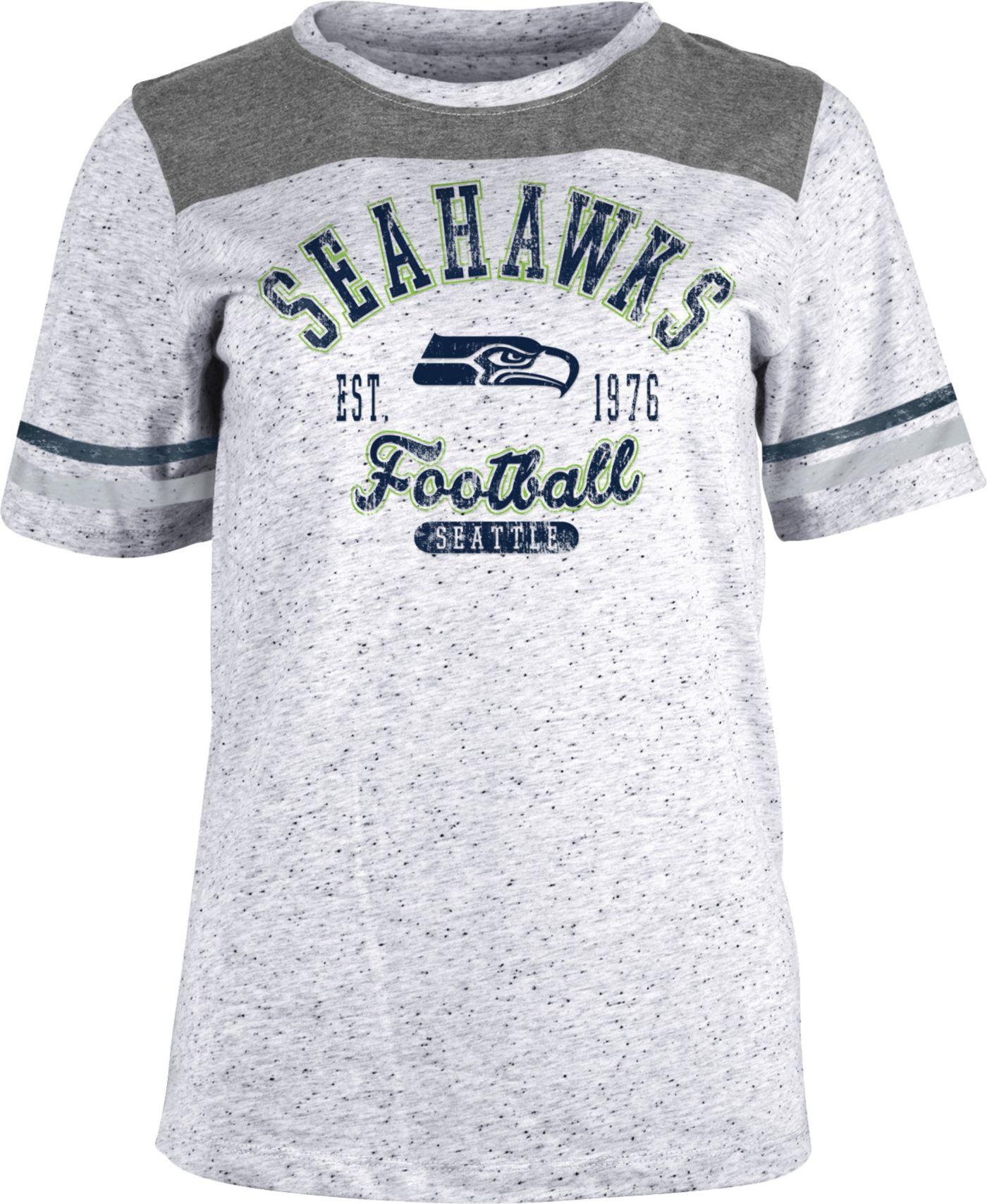 NFL Team Apparel Women's Seattle Seahawks Peppercorn T-Shirt