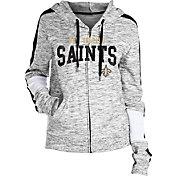 NFL Team Apparel Women's New Orleans Saints Space Dye Full-Zip Hoodie