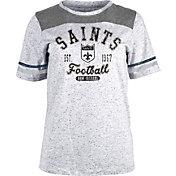 NFL Team Apparel Women's New Orleans Saints Peppercorn T-Shirt