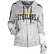 NFL Team Apparel Women's Pittsburgh Steelers Space Dye Full-Zip Hoodie