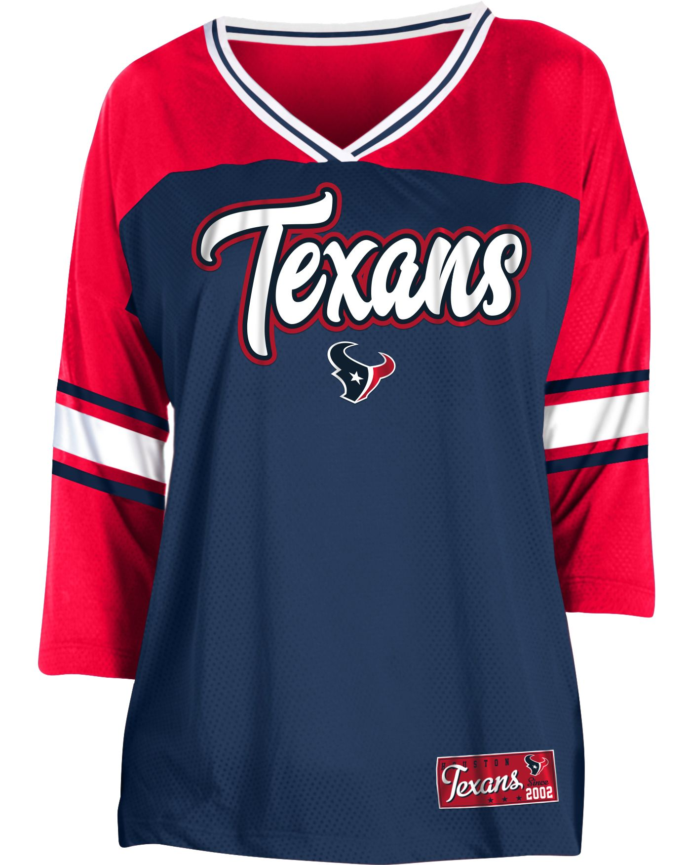 NFL Team Apparel Women's Houston Texans Mesh Raglan Top