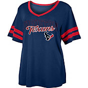 NFL Team Apparel Women's Houston Texans Slub Glitter T-Shirt