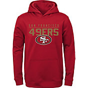 NFL Team Apparel Youth San Francisco 49ers Pace Set Red Hoodie