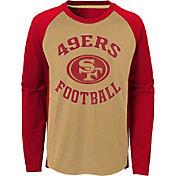 NFL Team Apparel Youth San Francisco 49ers Air Raid Long Sleeve Red Shirt