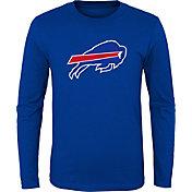 NFL Team Apparel Youth Buffalo Bills Logo Royal Long Sleeve Shirt