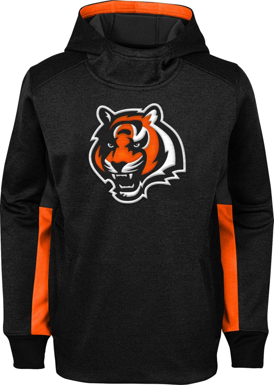 96845a39 NFL Team Apparel Youth Cincinnati Bengals Status Performance Black Hoodie