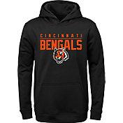 NFL Team Apparel Youth Cincinnati Bengals Pace Set Black Hoodie