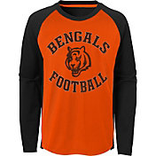 NFL Team Apparel Youth Cincinnati Bengals Air Raid Long Sleeve Black Shirt