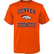 NFL Team Apparel Youth Denver Broncos Power Orange T-Shirt