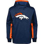 NFL Team Apparel Youth Denver Broncos Status Performance Navy Hoodie