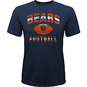 NFL Team Apparel Youth Chicago Bears Big Game Tri-Blend Navy T-Shirt