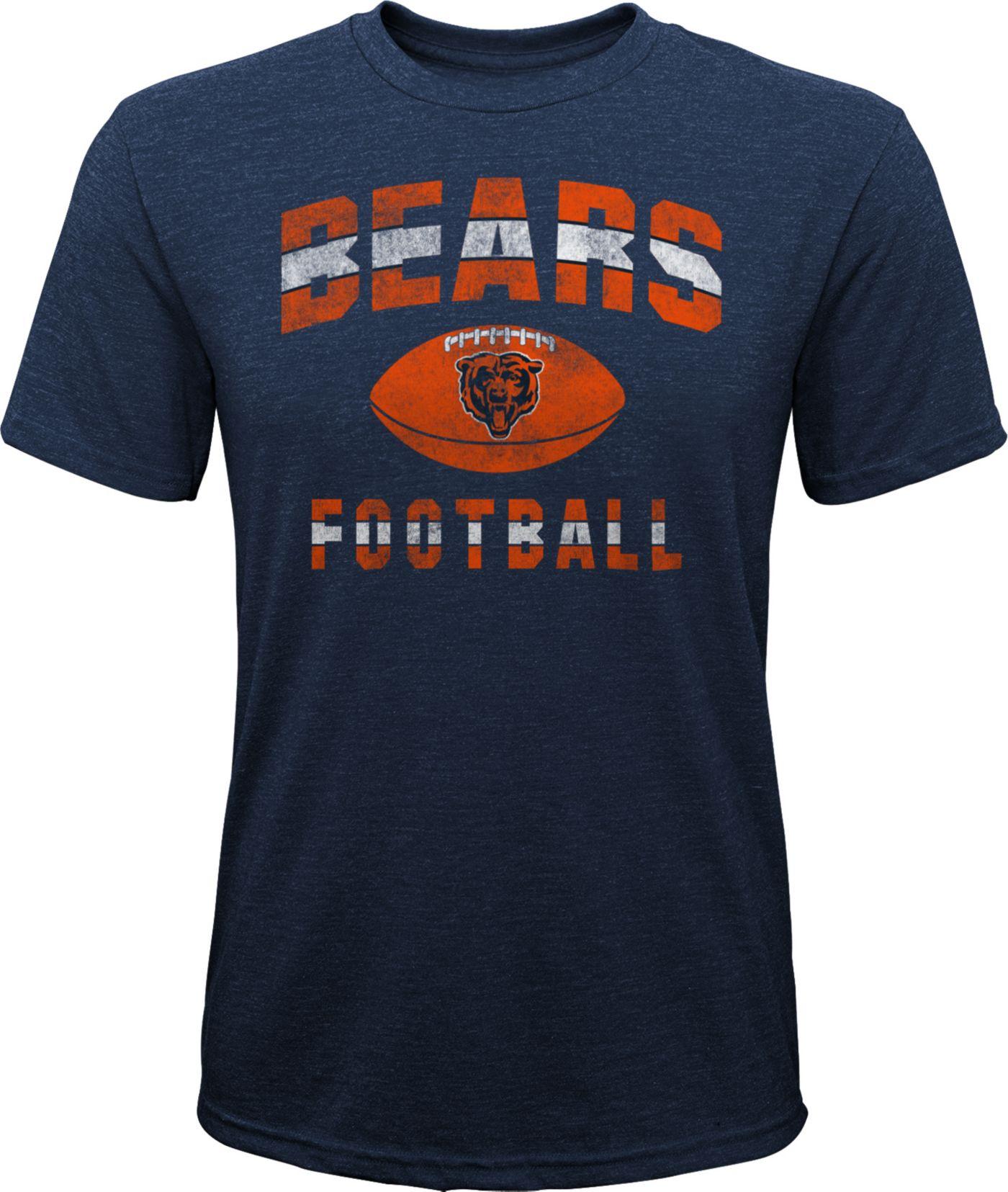 NFL Team Apparel Youth Chicago Bears Big Game Tri-Blend Navy T-Shirt