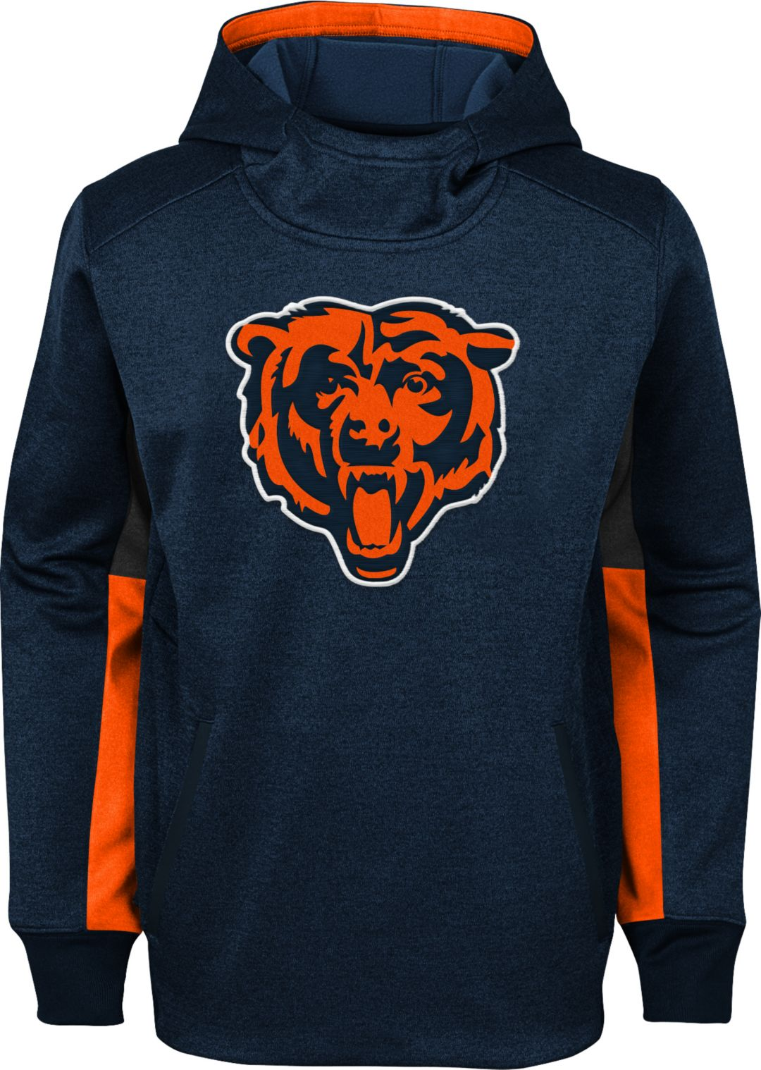 sports shoes e8bf8 d2cc8 NFL Team Apparel Youth Chicago Bears Status Performance Navy Hoodie