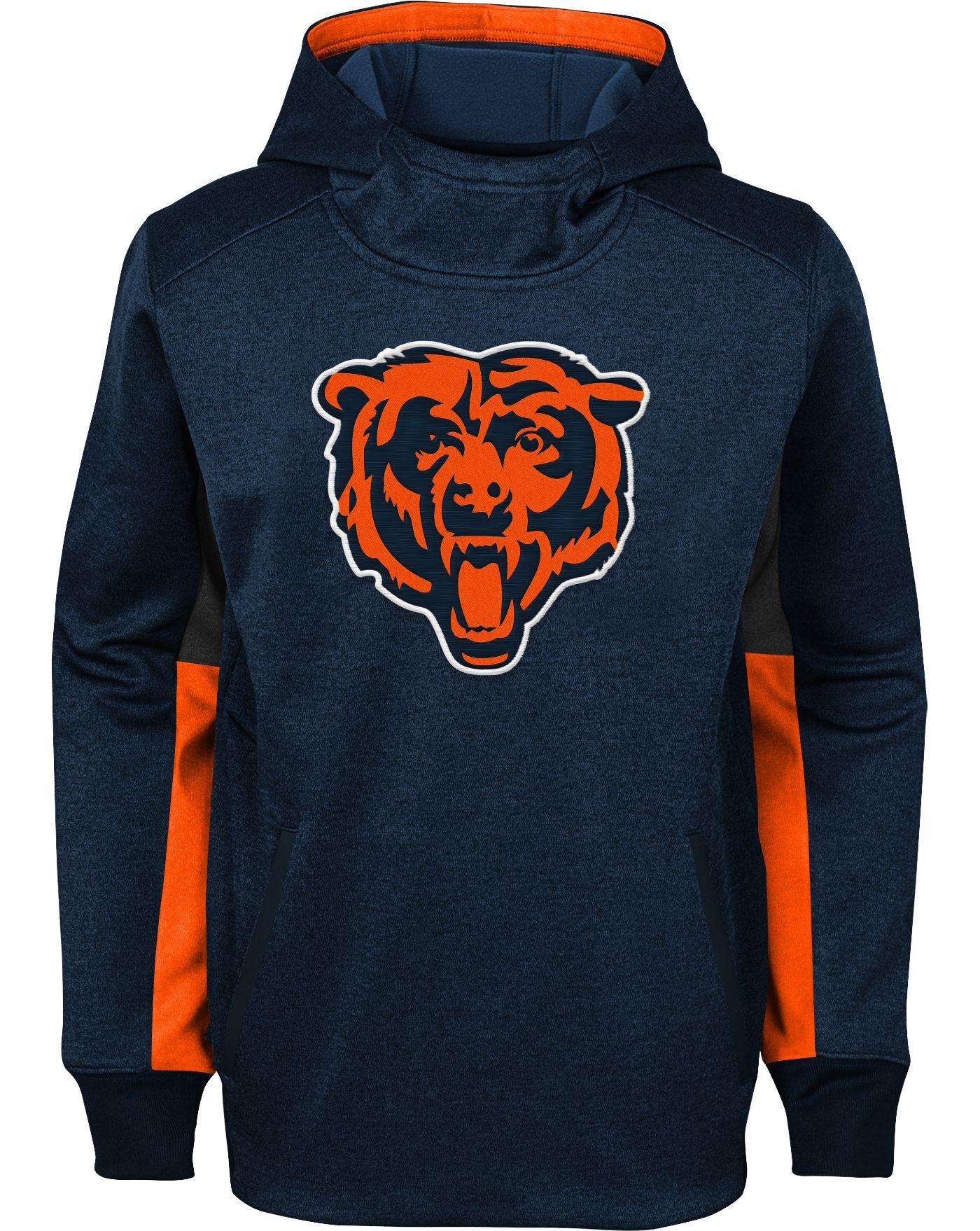 NFL Team Apparel Youth Chicago Bears Status Performance Navy Hoodie