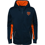 NFL Team Apparel Youth Chicago Bears Performance Navy Full-Zip Hoodie