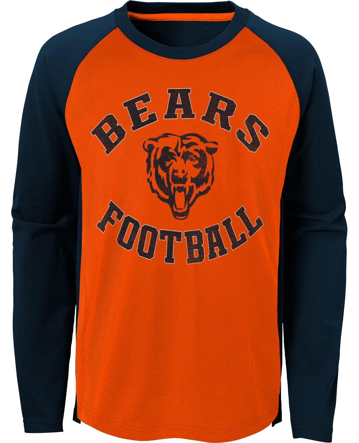 NFL Team Apparel Youth Chicago Bears Air Raid Long Sleeve Navy Shirt