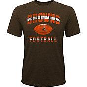 NFL Team Apparel Youth Cleveland Browns Big Game Tri-Blend Brown T-Shirt