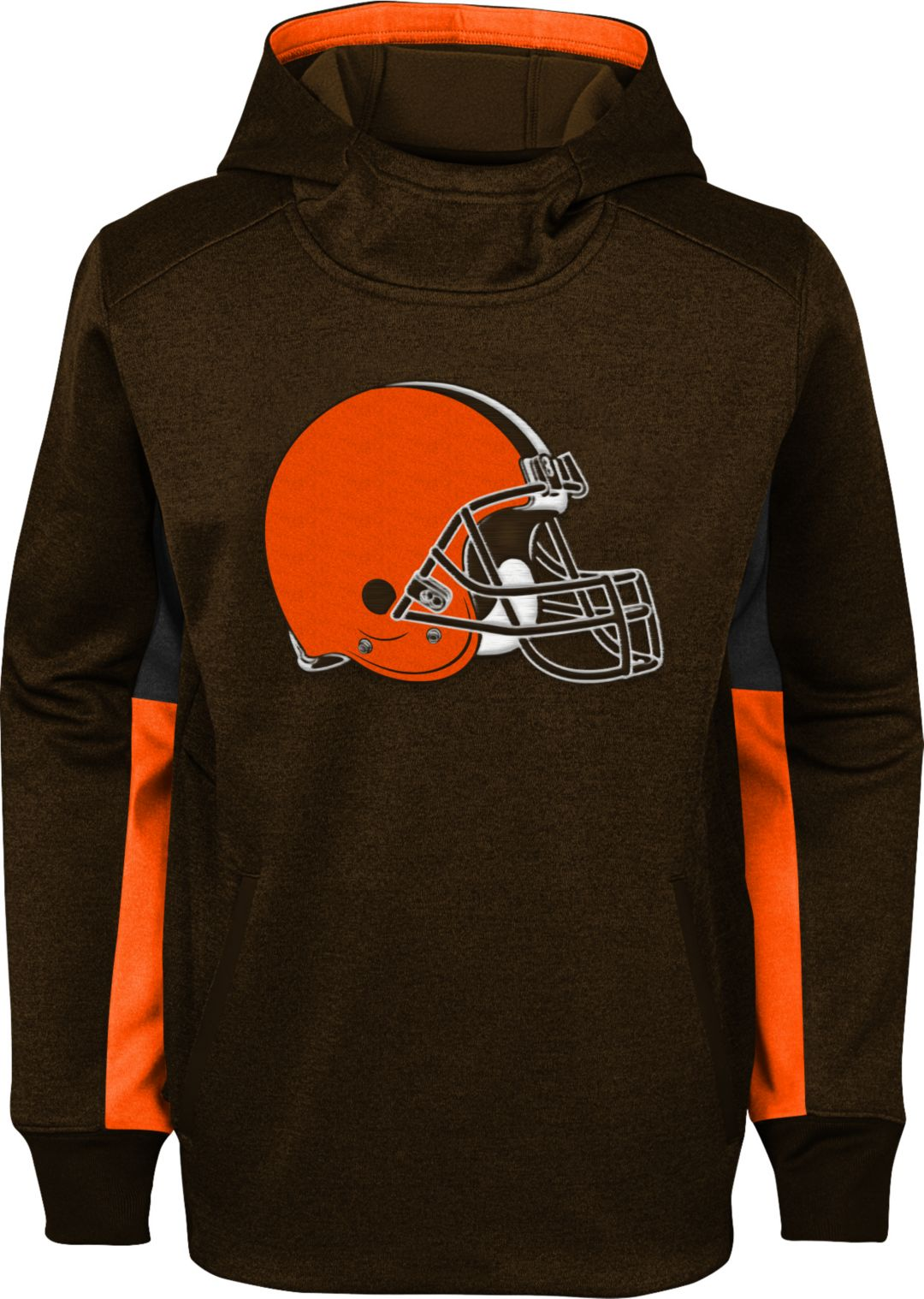 newest bdc2a c5399 NFL Team Apparel Youth Cleveland Browns Status Performance Brown Hoodie