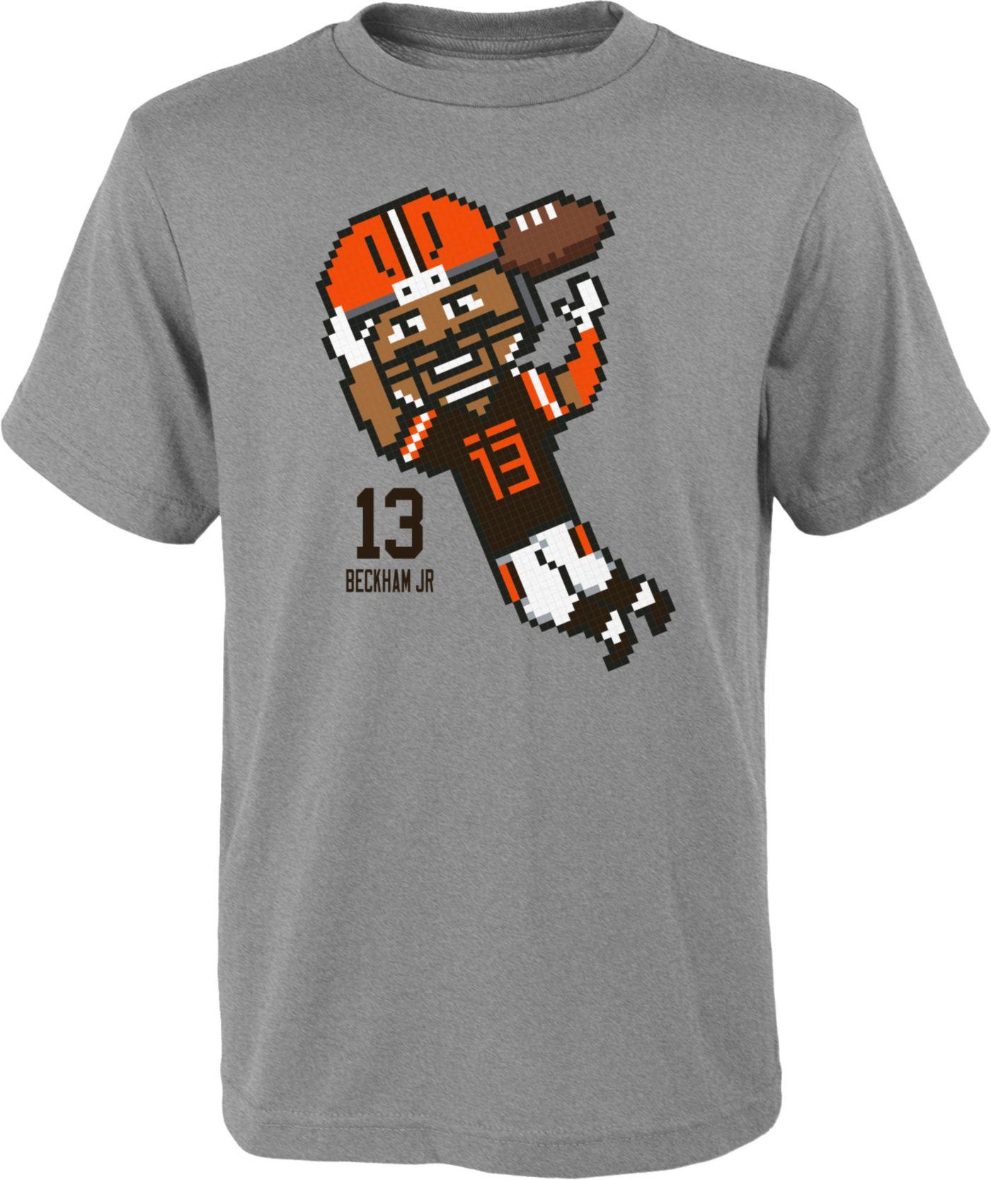 NFL Team Apparel Youth Cleveland Browns Odell Beckham Jr. #13 Pixel T-Shirt