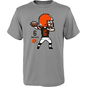 NFL Team Apparel Youth Cleveland Browns Baker Mayfield #6 Pixel T-Shirt