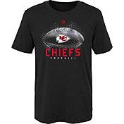 NFL Team Apparel Youth Kansas City Chiefs Hexagon Black T-Shirt