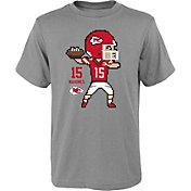 NFL Team Apparel Youth Kansas City Chiefs Patrick Mahomes #15 Pixel T-Shirt