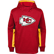 NFL Team Apparel Youth Kansas City Chiefs Status Performance Red Hoodie