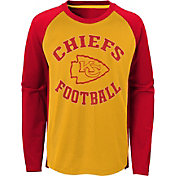 NFL Team Apparel Youth Kansas City Chiefs Air Raid Long Sleeve Red Shirt